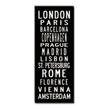 European Cities Sign Art