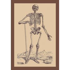 Skeleton with Shovel Canvas Art