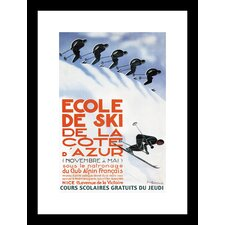 Ecole de Ski Framed and Matted Print