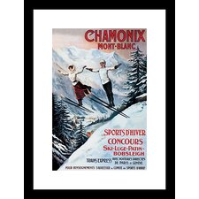 Chamonix Mont-Blanc Framed and Matted Print
