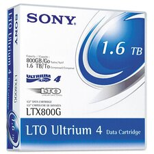 "1/2"" LTO-4 Data Cartridge, 2600ft, 800GB Native/1.6TB Compressed Data Capacity"