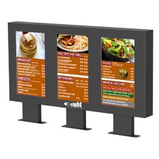 "Outdoor Digital Menu Board Enclosure for Three 46"" LCD"