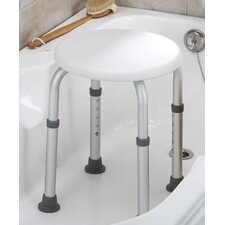 Round Bath Stool-Tool Free in White