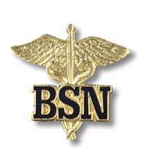 Bachelor of Science in Nursing Caduceus with Emblem Pin