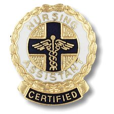 Certified Nursing Assistant Wreath Edge with Emblem Pin