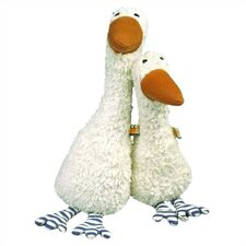Lana Goose Organic Stuffed Animal in White