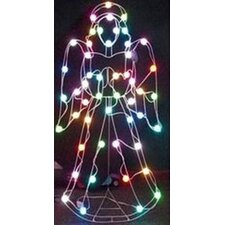 50-Light LED Color Changing Angel with 8 Multi Functions