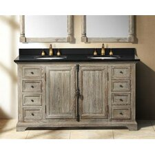 "Genna 58"" Double Bathroom Vanity Base"