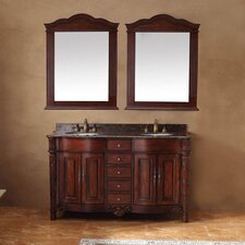 "60"" Double Bathroom Vanity Set"
