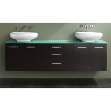 "Berdine 58"" Double Bathroom Vanity Set"
