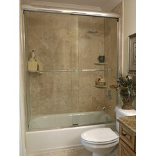 "3/8"" Frameless Paragon Bypass Shower Enclosure"