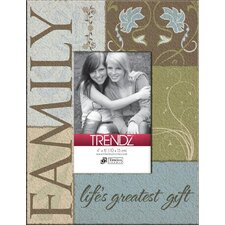 Trendz Family Decoupage Tabletop Photo Frame