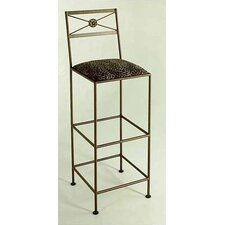 "36"" Neoclassic Metal Bar Stool"