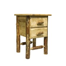 Glacier Country 2 Drawer Nightstand