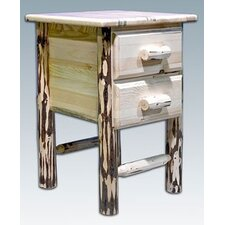 Montana with 2 Drawer Nightstand