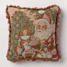 Holiday Whimsy Santa Pillow