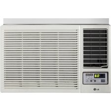 12000 BTU Window-Mounted Air Conditioner with Supplemental Heat and Remote
