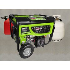 GP-7500DEB 6200 Watts Propane or Gas Powered Generator with Electric Start and Battery