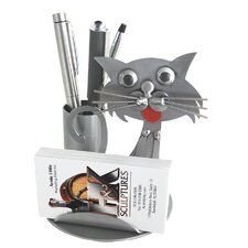 Desk Accessory Cat Business Card Holder