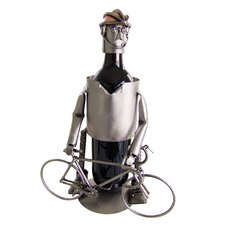 Bicycle Rider Male Wine Caddy