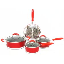 Induction Ready Non Stick 7 Piece Cookware Set