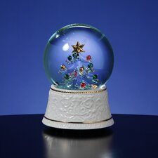 Glass Lighted Tree Water Globe