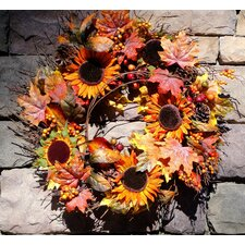 Autumn Sunflower Wreath