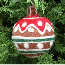 Felt Gingerbread Redtop Ball