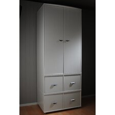 2 Door 4 Drawer Wardrobe