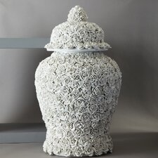 Flower Covered Temple Jar