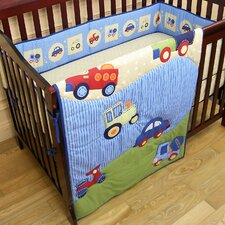 Travel Time 3 Piece Crib Bedding Set