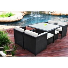 Inverse Outdoor 7 Piece Dining Set with Cushions