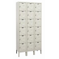 Galvanite Locker 6 Tier 3 Wide (Assembled)