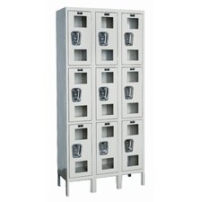 Safety-View Stock Lockers - Triple Tier - 3 Sections (Assembled)
