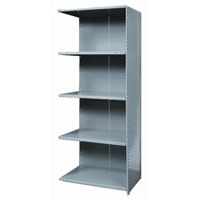 Hi-Tech Shelving Heavy-Duty Closed Type Add-on Unit with 5 Shelves