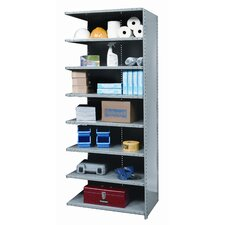 Hi-Tech Shelving Medium-Duty Closed Type Add-on Unit with 8 Shelves