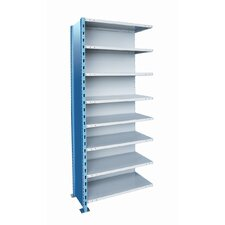 "H-Post Shelving 87"" High Capacity Closed Type Add-on Unit with 8 Shelves"