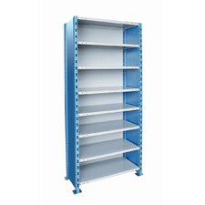 "H-Post Shelving 87"" High Capacity Closed Type Starter Unit and Optional Add-on Unit with 8 Shelves"