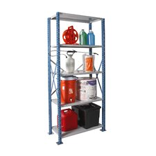 "H-Post Shelving 123"" High Capacity Open Type Starter Unit with 5 Shelves"