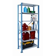 "H-Post Shelving 123"" High Capacity Open Type Starter Unit with 6 Shelves"
