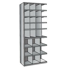 "Hi-Tech Metal Bin Shelving Add-on Unit (16) 9"" W x 9"" H, (4) 9"" W x 12"" H, (9) 12"" W x 12"" H Bins"