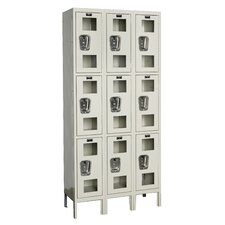 Safety-View Locker Triple Tier 3 Wide (Assembled)