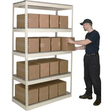 Rivetwell Shelving Double Rivet Boltless Type Add-On Unit with 5 Levels