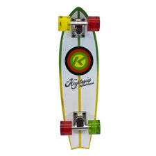 "Kryptonics Fishtail Cruiser Pipeline Graphic 24"" Complete Skateboard"