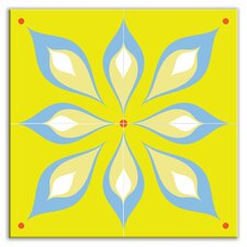 "Earth Quads 8-1/2"" x 8-1/2"" Satin Decorative Tile Quad in Mod Flair Green"