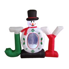 Christmas Inflatable Joy Snowman Snow Globe
