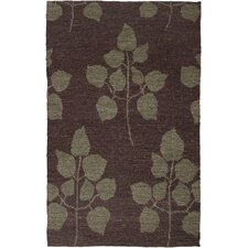Tobago Design Chocolate, Hand-Woven Rug