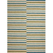 Coastal Living(R) I-O Lime Green Stripe Rug