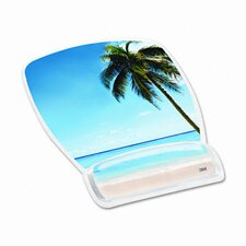 Gel Mouse Pad with Wrist Rest, Beach Design