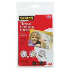 Scotch Photo Size Thermal Laminating Pouches, 5 Mil, 20/Pack